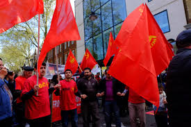 London Flag Photos May Day Photos Jeremy Corbyn Tells Thousands Of Communists U0027far
