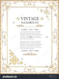 gold corner ornament greeting card vector stock vector 445242910