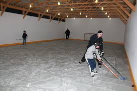 Homemade Backyard Ice Rink by Portable Refrigeration Packages