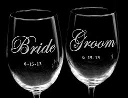 personalized glasses wedding groom wine glasses wedding wine glasses the wedding