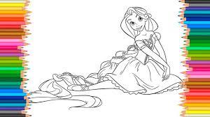 disney princess rapunzel ballerina coloring pages coloring book