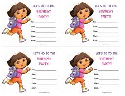 dora the explorer birthday invitations free printable