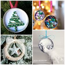 jar lid ornament ideas to make for crafty morning