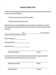 8 insurance waiver forms free sample example format download