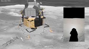 Moon Flag From Earth Moon In Google Earth Apollo 11 Landing Youtube