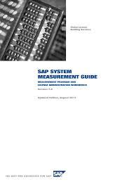 sap system measurement guide sap se software