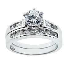 2 wedding rings sterling silver two wedding rings