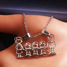 necklace girl images Mama family necklaces jewelry silver color love boy girl pendant jpg