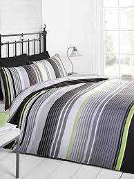 Quilt Duvet Covers Signature Striped Quilt Duvet Cover And Pillowcase Bedding Bed Set