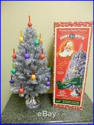 christopher radko shiny brite light tree silver