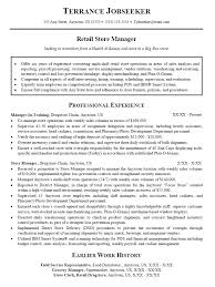 resume samples for retail sales retail manager resume samples