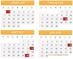 Kalender 2018 Hari Libur Indonesia Kalender 2018 Indonesia Lengkap Dengan Hari Libur Nasional Eo No