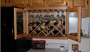 cabinet wooden hanging stemware rack beautiful under cabinet