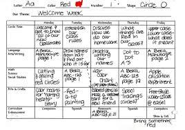 daily lesson plan for preschool blank calendar