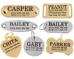 engravable dog tags engraved dog tag etsy