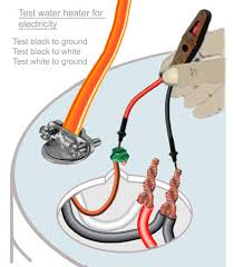 how to test water heater element