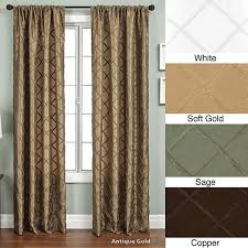 Extra Wide Thermal Curtains Ashford Rod Pocket 120 Inch Curtain Panel 55 X 120 Free In 120