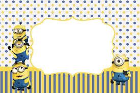 minions invitation card free printable invitation design