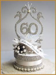 60 cake topper 60th wedding anniversary cake topper picture in wedding cake