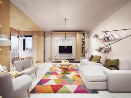 Modern Home Floorplans A Comfortable Modern Home With Colorful Accents