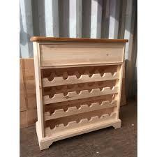custom design u0027 painted pine wine rack with oak