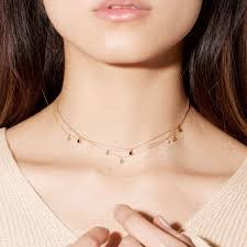 neck choker necklace images Three diamond choker necklace stone and strand jpg