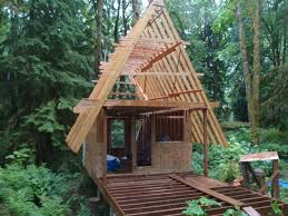 building an a frame cabin frame cabin small forum building plans 25082