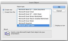 link excel chart to powerpoint and word using ole