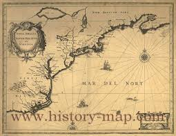 1600 Map Of America by In 1600 U0027s
