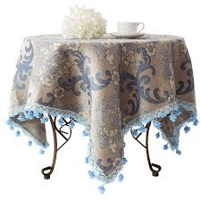 square tablecloth on round table aliexpress com buy blue grey continental upscale rustic restaurant