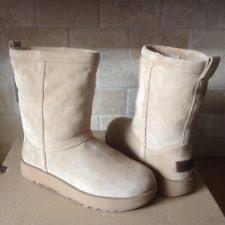 nib ugg australia emalie wedge waterproof ankle boot black zip ugg australia s wedge us size 8 ebay