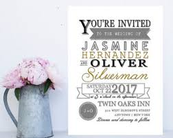 Fun Wedding Invitations Fast And Affordable Wedding Invitations By Whimsicalprints On Etsy