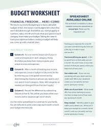 divorce budget worksheet
