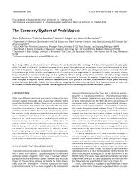 the secretory system of arabidopsis pdf download available