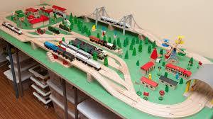 diy folding train table wooden railway guide
