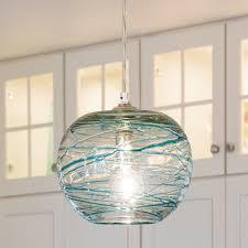 Aqua Pendant Light Swirling Glass Globe Mini Pendant Light Shades Of Light