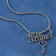 wire name necklace personalized jewelry gold wire name necklace w heart cross