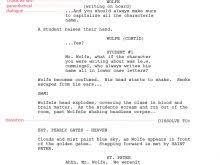 movie scripts template free resume