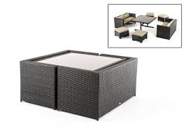 Small Balcony Furniture by Renava Cube Outdoor Dining Set Tranquil Patios U0026 Outdoor Spaces