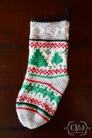 Crochet Christmas Stocking Tree Decoration by Waistcoat Christmas Stockings Colorful Christine