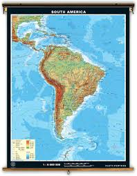 Map Of South America Labeled by Klett Perthes Extra Large Physical Map Of South America
