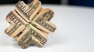 money gift idea cloverleaf dollar bill origami tutorial youtube