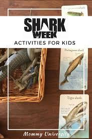 shark week educational activities for kids mommy university
