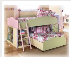 Doll House Bunk Bed Furniture Dollhouse Loft Bed Dresser Mirror Desk W