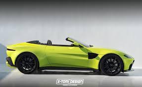 green aston martin convertible 2018 aston martin vantage volante convertible rendered