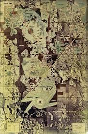 Disney Epcot Map Master Plan The Original E P C O T
