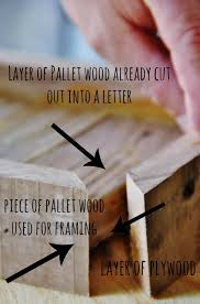 how to make a pallet wood letter thistlewood farm