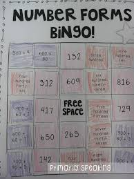number forms bingo expanded form standard form and word form