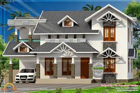 nice sloped roof kerala home design indian house plans house