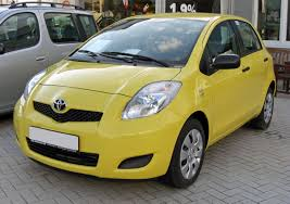 yellow toyota file toyota yaris ii facelift facelift 20090621 front jpg